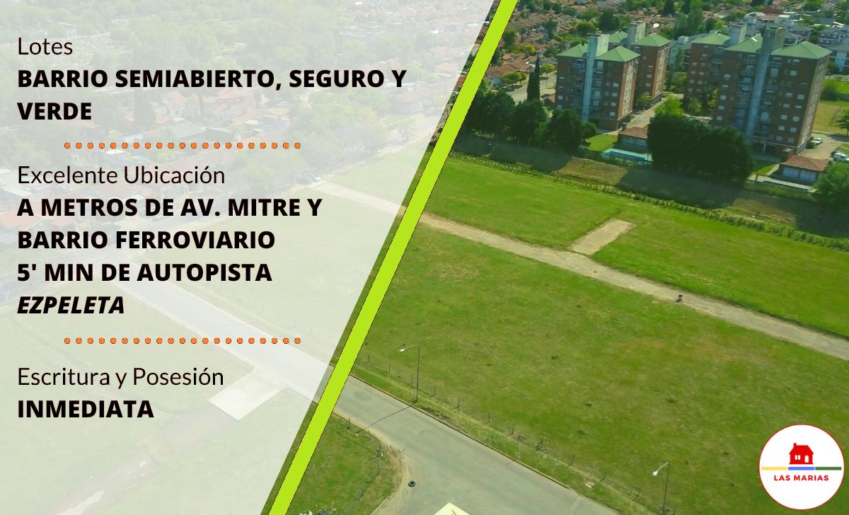 Barrio Las Marias lotes de 150 a 200 metros cuadrados economicos ideal inversion inversionistas terreno para construir accesible reserva